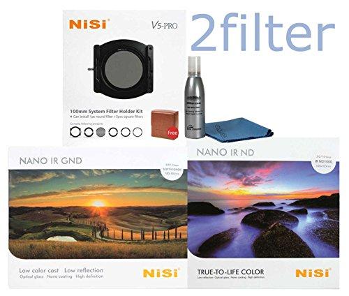 NiSi V5 PRO 100mm Starter Kit 1 Includes - V5 Pro Holder, Glass 4x6 Multi-coated 0.9 Soft Edge Grad ND and Glass 4x4 Multicoated IR ND1000 10-Stop (3.0) Filter with 2filter cleaning kit! by NiSi