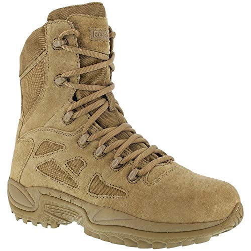 """Reebok RB8977 Mens Rapid Response RB 8"""" Tactical Military Boot, Coyote, 8.5"""