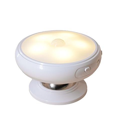 LED lámpara luz nocturna Sensor de movimiento 360 ° rotación ...