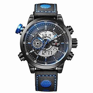 Relojes Hermosos, Hombres weide moda negro analógico reloj digital del deporte correa de cuero cronómetro / luz ...