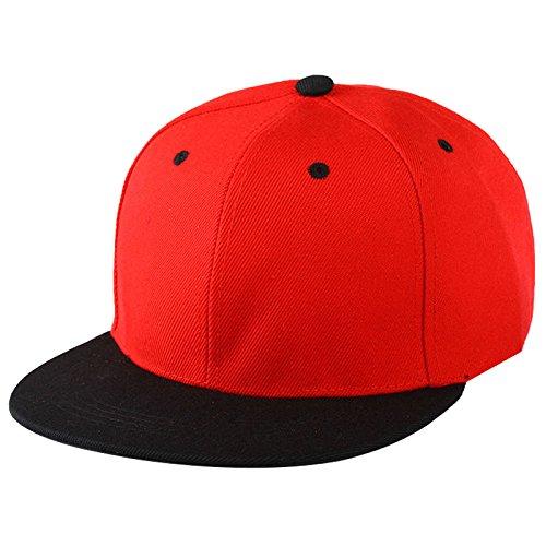 771a8fed02a SODIAL(R) Plain Snapback Hat Caps Flat Peak Funky Retro Baseball Cap Hip Hop