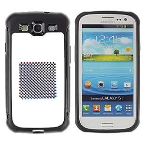 "Pulsar iFace Series Tpu silicona Carcasa Funda Case para Samsung Galaxy S3 III I9300 , Raster Lámina Minimalista Blanca"""