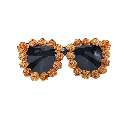 de para de la del del flor metal sol de sol espejo mujeres barroco hechas Gafas lujo del de clásico Gafas Gafas mujer Vintage estilo UV protección a de la de sol mano de para demostración de las de la dwXUqnH