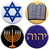 "Buttonsmith Judaism 1.25"" Refrigerator Magnet Set - Made in the USA"