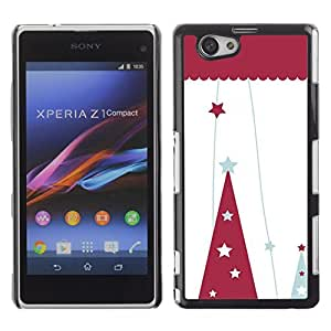 YOYO Slim PC / Aluminium Case Cover Armor Shell Portection //Christmas Holiday Red Hat 1093 //Sony Xperia Z1 Compact