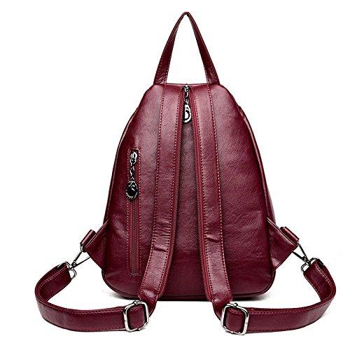 Mefly Fashion Institute Viento Bolso Bolsa Mochila Fuera De Color Bronce Claret