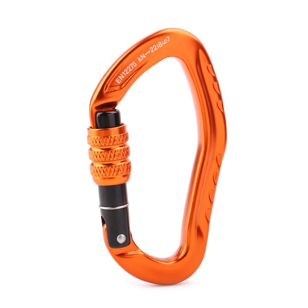 2x Carabiner Clip Snap Spring Hooks Keyring Buckle Camping Carabina 5x50mm