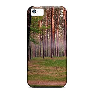 Ultra Slim Fit Hard JJBaike Case Cover Specially Made For Iphone 5c- Pine Forest