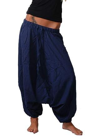 metà fuori 8ec9e 578a2 Pantaloni in stile harem orientale Blau Taglia unica: Amazon.it ...