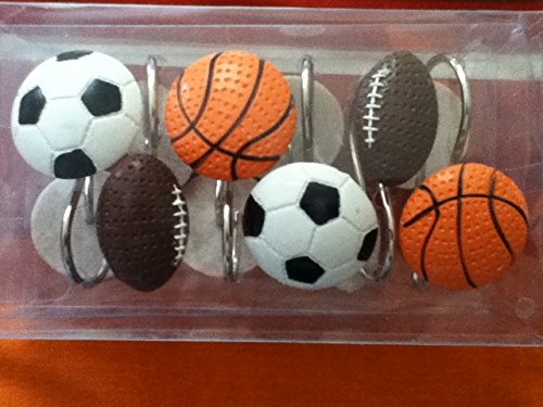Sports Shower Curtain Hooks COMIN16JU032527