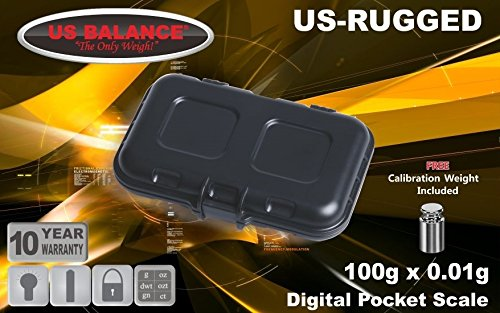 US-Rugged Digital Pocket Scale 100g x 0.01g With Free Calibration Weight And Batteries