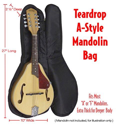 (Performance Plus Heavy Duty 600 Denier Nylon 5mm Padded Mandolin Bag GBM165)