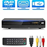 DVD Player with HDMI AV Output, DVD Player for TV, Contain HD with AV Cable/ Remote Control/ USB Input, All Region Support Home DVD Players, Tojock