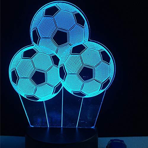 Nuevo Balón de Fútbol Creativo Luz Nocturna Deportiva 3D LED USB ...
