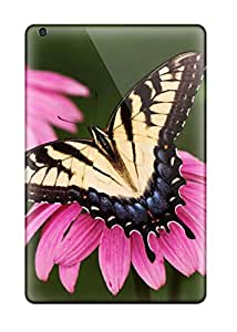 Fashion Protective Tiger Swallowtail Butterfly Purple Coneflower Case Cover For Ipad Mini 3 2460017K41944539