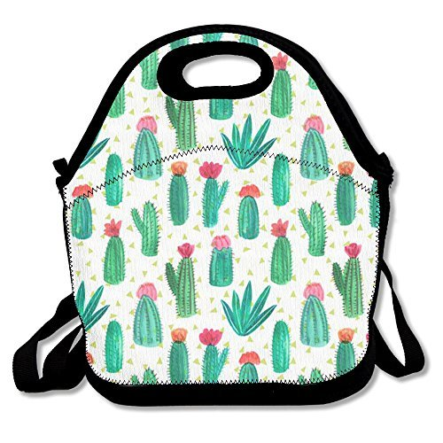 Cute Cactus Lunch Bags Waterproof Lunchboxes Reusable Insulated Lunch Boxes Lunch Bag Box Lunch Tote Pouch For School Work Office Picnic Travel