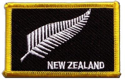 8 x 6 cm Digni /Écusson brod/é Flag Patch Nouvelle-Z/élande Plume All Blacks