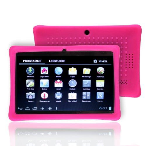 "Photo - NSSTAR Soft Silicone Slim 7 Inch Tablet Protective Back Case Cover for Chromo,Dragon Touch A13 Q88,Y88,Afunta Q88,AGPtek,Alldaymall Q88,FastTouch,Zeepad 7.0,Fortress,Tagital,ZTO N1,ZTO N1 Plus,Alldaymall A88X 7'',NeuTab N7 Pro,Chromo Inc 7""(Hot Pink)"