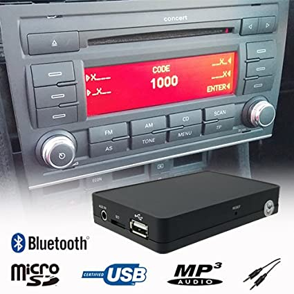 amazon com stereo bluetooth handsfree a2dp usb sd aux mp3 wma cd  stereo bluetooth handsfree a2dp usb sd aux mp3 wma cd changer adapter interface car kit audi