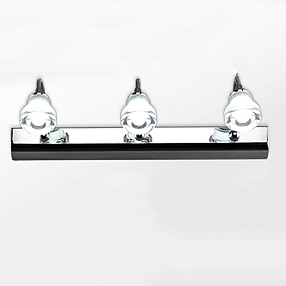LJHA jingqiandeng 現代のシンプルなLEDミラーフロントライトステンレス鋼のバスルームのメイクアップミラーキャビネットライト寝室の壁ランプ (色 : 白色光, サイズ さいず : 46センチメートル 46せんちめ゜とる) B07L3RS3MQ 46センチメートル 46せんちめ゜とる 暖かい光 暖かい光 46センチメートル 46せんちめ゜とる