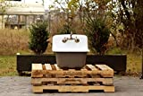 Vintage Style Deep Utility Sink Antique Inspired High Back Cast Iron Porcelain Farm Sink Package Feu de Bois Brown