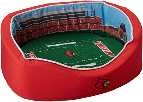 NCAA Louisville Cardinals Football Stadium Pet Beds, 20 x 30-Inch