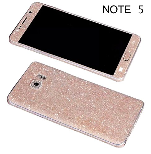 Full Bling Leopard Snap - Dreams Mall(TM)Bling Glitter Crystal Diamond Whole Body Protector Film Sticker for Samsung Galaxy Note 5-Champagne