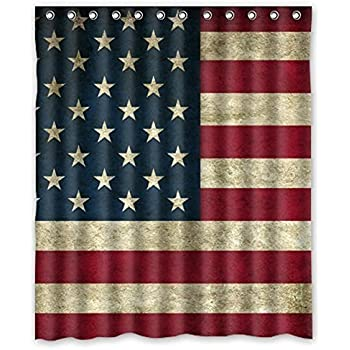 red and blue shower curtain. Best Beautiful American Flag Shower Curtain  Rings Included 100 Polyester Waterproof 60 Amazon com