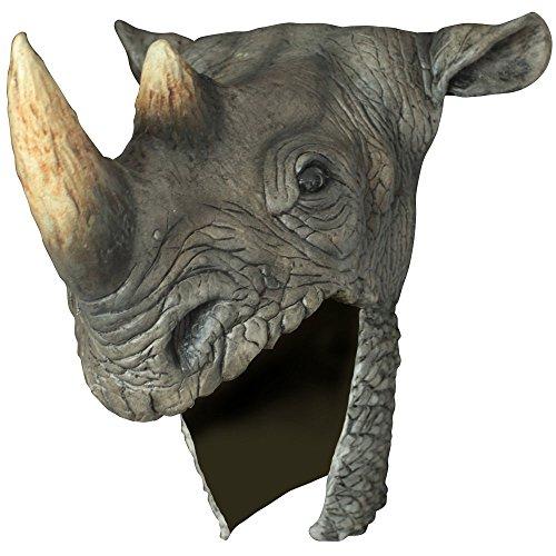 Ghoulish Masks Adult Grey Rhino Halloween Helmet ()