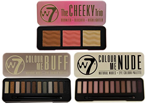 W7 Set- Colour Me Buff and Colour Me Nude, Natural Eye Shado