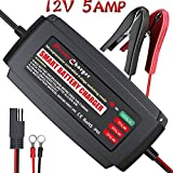 5 amp car battery charger - [IP65] LST Boat Battery Charger Maintainer 12V Trickle Deep Cycle Water Resistance for Automotive Car RV SLA ATV AGM GEL CELL WET& FLOODED Lead Acid Batteries