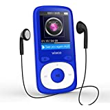 16GB MP3 Player with FM Radio, Lossless Sound Music Player with HD Headphone and Adjustable Sport Armband, Supports Up to 64GB (Blue)