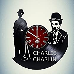 Charlie Chaplin Design Vinyl Wall Clock – handmade gift for any occasion – unique birthday, wedding, anniversary, Valentine's day gifts - Wall décor Ideas for any space