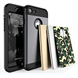 TOTU iPhone 7 Case Water Resistant Shock Absorbing Falling Preventing Protective Case Best Heavy Duty 4 Interchangeable...