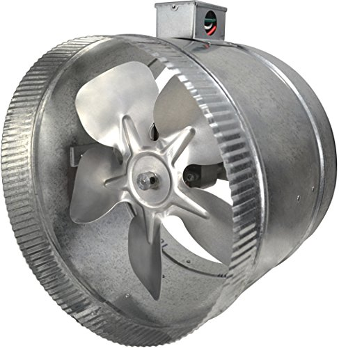 (Suncourt 2-Speed Inductor Inline Duct Fan, 10 Inch Diameter, Indoor Air)
