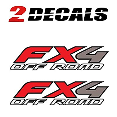 TiresFX Ford FX4 Off Road Decals Stickers - F (1997-2010) Super Duty F250 F350 F450 (Set of 2): Clothing