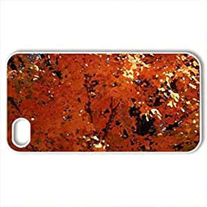 Beautiful Autumn - Case Cover for iPhone 4 and 4s (Watercolor style, White)