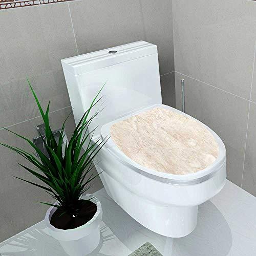 Home Decoration Stone Italian Marble Warm Cream Toilet Cover Stickers W13 x L18