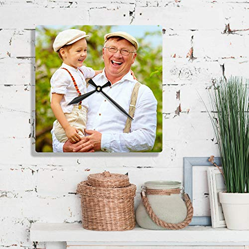 - Custom Photo or Art Metal Wall Clock! Square Extra Large 13