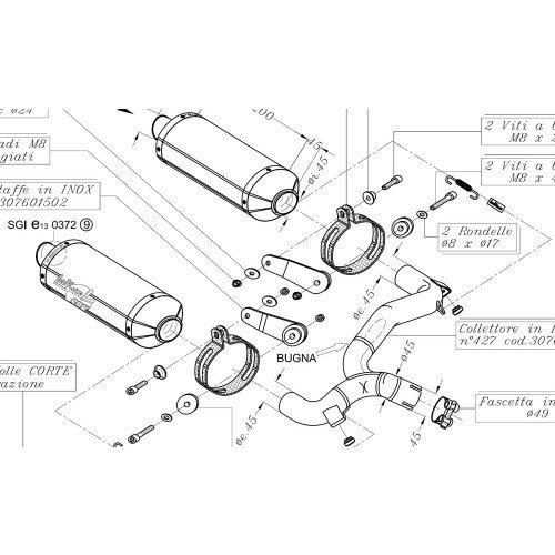 Auspuff Leovince Sbk Slip On Factory Evo2 Carbon Fr Suzuki Gsr 600