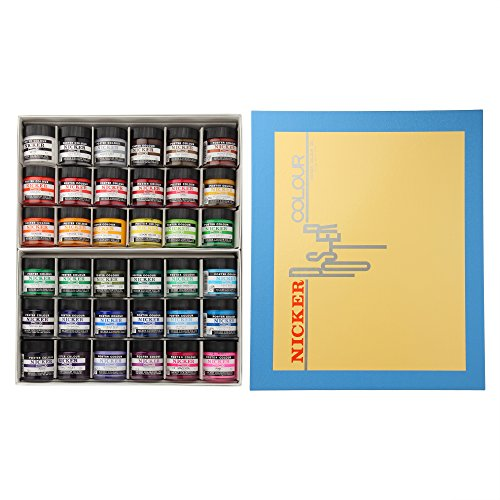 Knicker poster color in bottle 36 color set (japan import) by Knicker paint