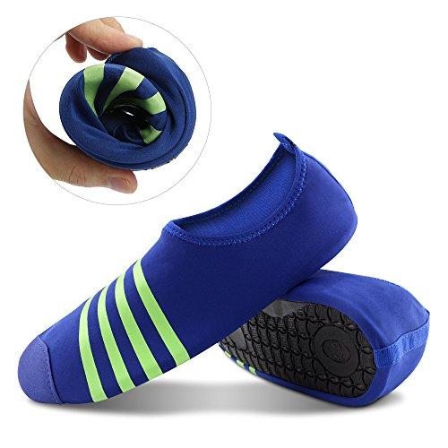 Åska Unisex Barfota Hud Skor Polyester Strumpor För Yoga Övning, Gym, Utomhus Promenad, Strand Vattensport Mörkblå