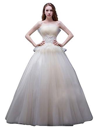 Mesure Perles Des Beauty Sur De Bal Robes Mariée Emily Robe Tulle JcFK1l