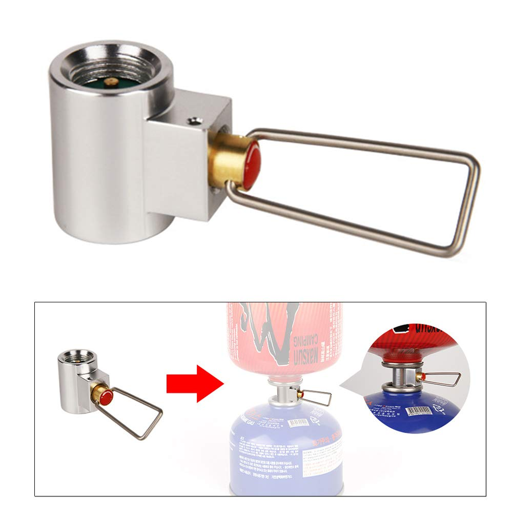 NANAD Aluminum Alloy Conversion Adapter Camping Gas Stove Adaptor Valve Canister Gas Convertor Shifter Refill 22MM