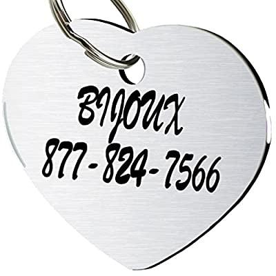 CNATTAGS Stainless Steel Pet ID Tags Dog Tags Personalized Front and Back Engraving from CNATTAGS LLC