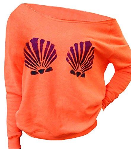 Ybenlow Seashells Slouchy Pullover Sweatshirt