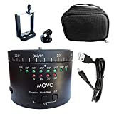 Movo Photo MTP-11 Motorized Panoramic Time Lapse Tripod Head with Variable Speed, Time and Direction with Built-in Rechargeable Battery - for DSLR Cameras, GoPro and Smartphones (Tamaño: MTP-11)