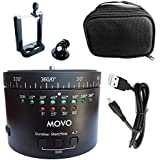 Movo Photo MTP-11 Motorized Panoramic Time Lapse Tripod Head with Variable Speed, Time and Direction with Built-in Rechargeable Battery - Perfect DSLR Cameras, Go Pro and Smartphone Timelapse Rotator
