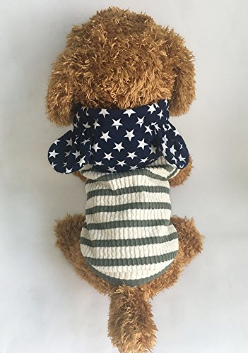 Pictures of EastCities Pet Clothes Dog HoodiesSmall Dogs CatGreen 5