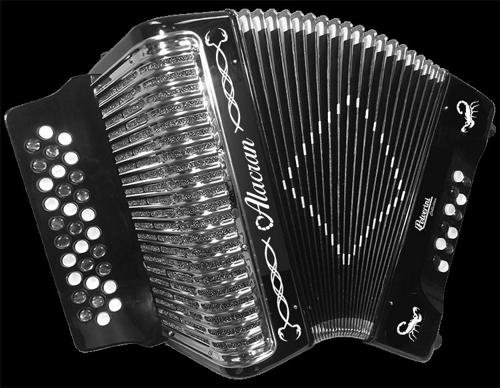 Alacran Accordion AL3112 Black with Case GCF by Alacran